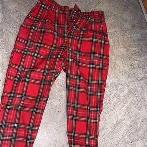 Brand new Love too true plaid pants (women's)